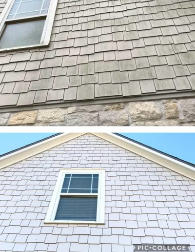 Shingle Siding Cleaned