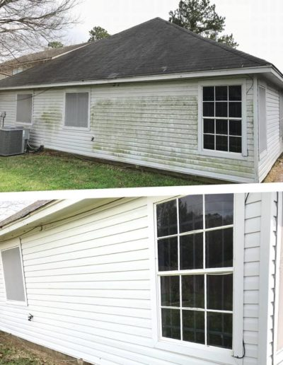 Siding Cleaned